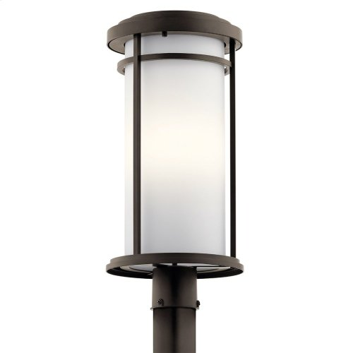 Toman 1 Light Post Mount with LED Bulbs Olde Bronze®