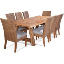 "Bellport 102"" Live Edge Dining Set"