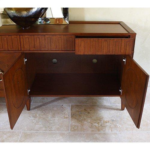 French Key Everything Cabinet-Dark Oak