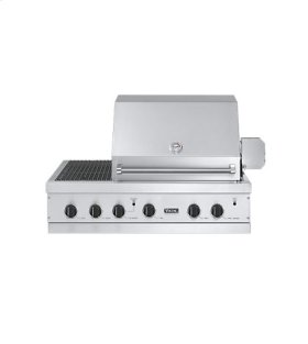 """Stainless Steel 41"""" Ultra-Premium E-Series Grill with TruSear™ Side Griller - VGIQ (41""""W. E-Series with two standard 30,000 BTU burners and side burners (LP/Propane))"""