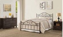 Harrison Full Bed With Rails - Textured Black