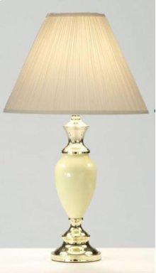 Ivory / Brass Vase Lamp