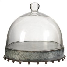 Plate with Glass Dome,Large