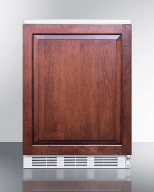 Commercially Listed Built-in Undercounter All-refrigerator for General Purpose Use, Auto Defrost W/integrated Door Frame for Overlay Panels and White Cabinet