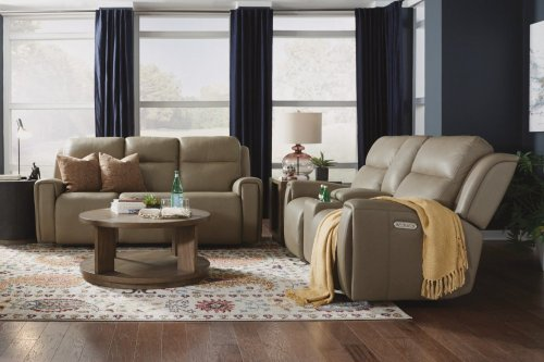 Jasper Leather Power Reclining Sofa with Power Headrests