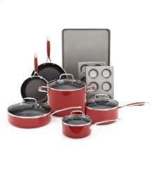 KitchenAid Aluminum Nonstick 10-Piece Set - Empire Red