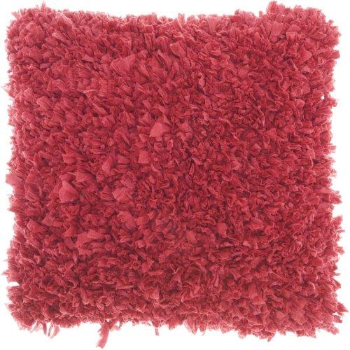 """Shag Dl660 Hot Pink 1'5"""" X 1'5"""" Throw Pillows"""