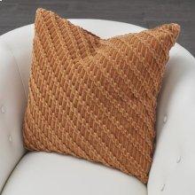 Velvet Ribbon Pillow-Rust