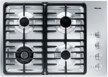 KM 3465 LP Gas cooktop with a dual wok burner for particularly wide ranging burner capacity.