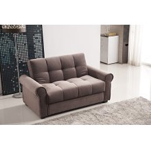 7576 Brown Loveseat