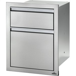"Napoleon Grills18"" X 24"" Double Drawer: Large and Standard Large and Standard , Stainless Steel"