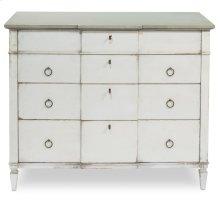 Azzalene Dresser,Wht/Wht,Gray Quartz