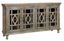 Bengal Manor Mango Wood Grey Wash 4 Door Sideboard