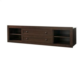 Storage Unit with Side Rail Panel - Classic Cherry
