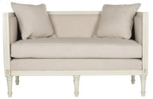 Leandra Rustic French Country Settee - Beige