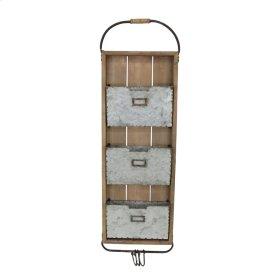 Wood/metal 3 File Wall Organizer