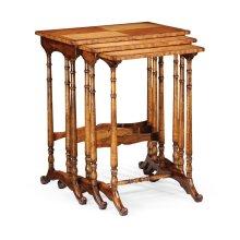Satinwood Nest of Three Tables