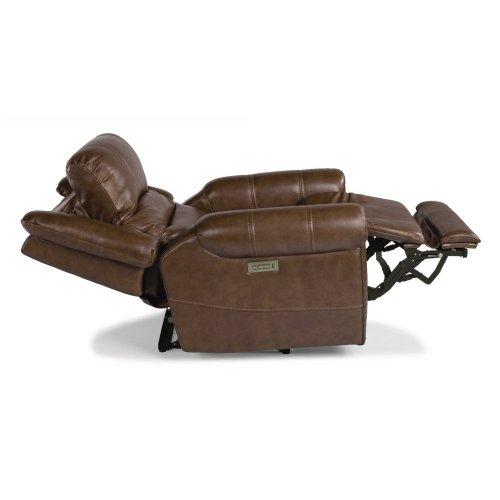 Oscar Leather Power Recliner with Power Headrest