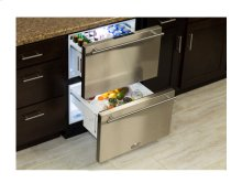 """24"""" Refrigerated Drawers - Marvel Refrigeration - Solid Stainless Steel Drawer Front"""