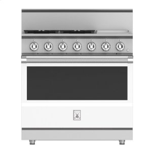 "Hestan36"" 4-Burner All Gas Range with 12"" Griddle - KRG Series - Froth"