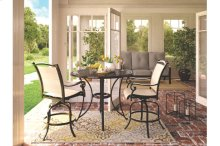 3PC PATIO HIGH DINING SET ( TABLE WITH 2 STOOLS)