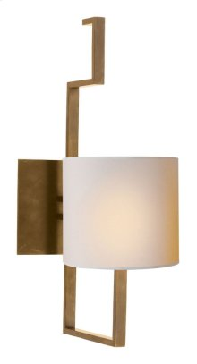 Visual Comfort SC2200HAB-NP Eric Cohler Puzzle 1 Light 5 inch Hand-Rubbed Antique Brass Decorative Wall Light