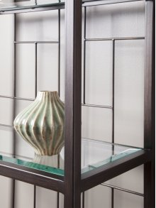 Mid Geo Slim Etagere - Antique Copper