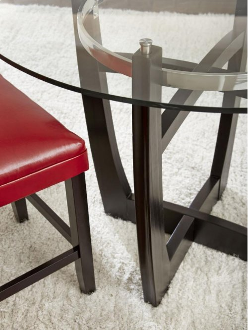 """Matinee Round Table Glass Top 48"""" 12mm tempered class"""