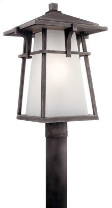 Beckett 1 Light Post Mount Weathered Zinc
