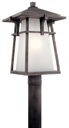 Beckett 1 Light Post Mount Weathered Zinc