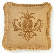 Brown Pineapple Burlap Pillow