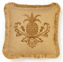 Brown Pineapple Burlap Pillow
