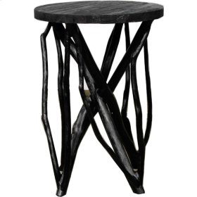 Branch Forest End Table, Black