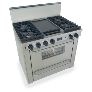 "Five Star36"" All Gas, Convect, Sealed Burners, Stainless Steel"