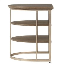 Virage Demilune End Table in Basalt