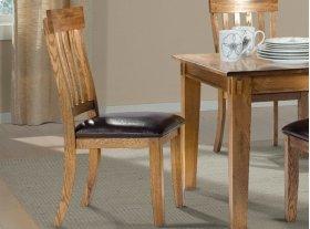 Slat Back Chair W/ Cushion