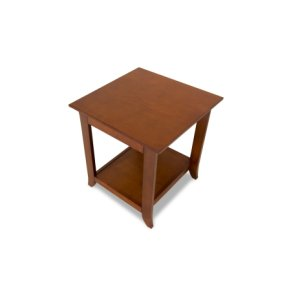 End Table, Solid Wood and Veneer In A Walnut Finish
