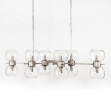 Antique Silver Finish Pearson Linear Chandelier
