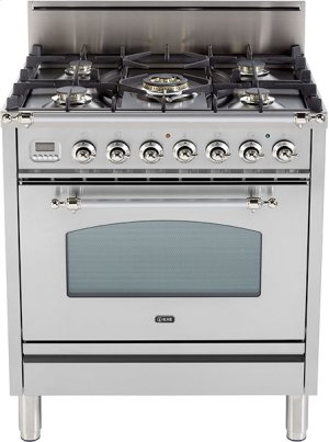 "Stainless Steel - Nostalgie 30"" Gas Range"