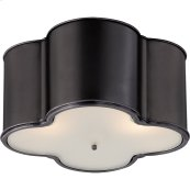 Visual Comfort AH4035GM-FG Alexa Hampton Basil 3 Light 24 inch Gun Metal Flush Mount Ceiling Light