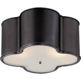 Visual Comfort AH4035GM-FG Alexa Hampton Basil 3 Light 24 inch Gun Metal Flush Mount Ceiling Light