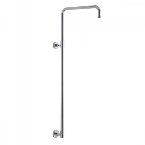 Satin Nickel - Subway Line 90° Retro Fit Exposed Pipe Kit with Handheld Slider, Diverter, Showerhead, and Handshower