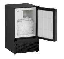 "15"" Crescent Ice Maker Black Solid Field Reversible"