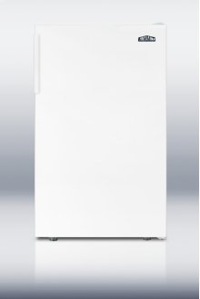 """Ada Compliant 20"""" Wide Counter Height Refrigerator-freezer In White"""