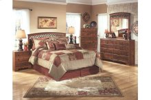 Timberline Queen/Full Panel Bedroom Group: Bed, Nightstand, Dresser & Mirror