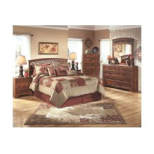 Timberline Queen/Full Panel Bedroom Set: Bed, Nightstand, Dresser & Mirror
