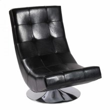 Mario Swivel Chair Black Bonded Leather