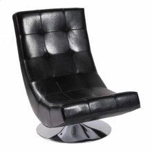 Mario Swivel Chair Black Bonded Leather