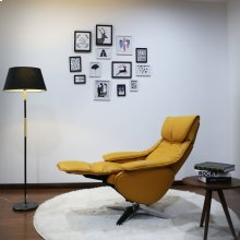 Yellow Top Grain Leather -360 Degree Automatic Return Swivel -Pneumatic Adjustable Recline -Articulating/Height Adjustable Headrest -Top Grain Leather -Pillow Top Chaise Cushion