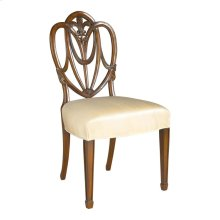 MAHOGANY SHIELD BACK SIDE CHAIR